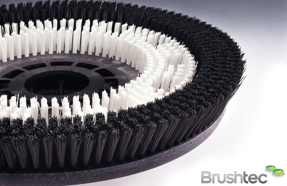 Disk Brush For Studded Rubber Floor Brushtec