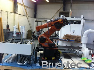 Kuka robot for new brush machine.