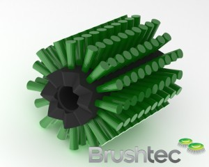 Flatbed scrubber brush