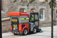 Street sweeper keeping our pavements free of litter.